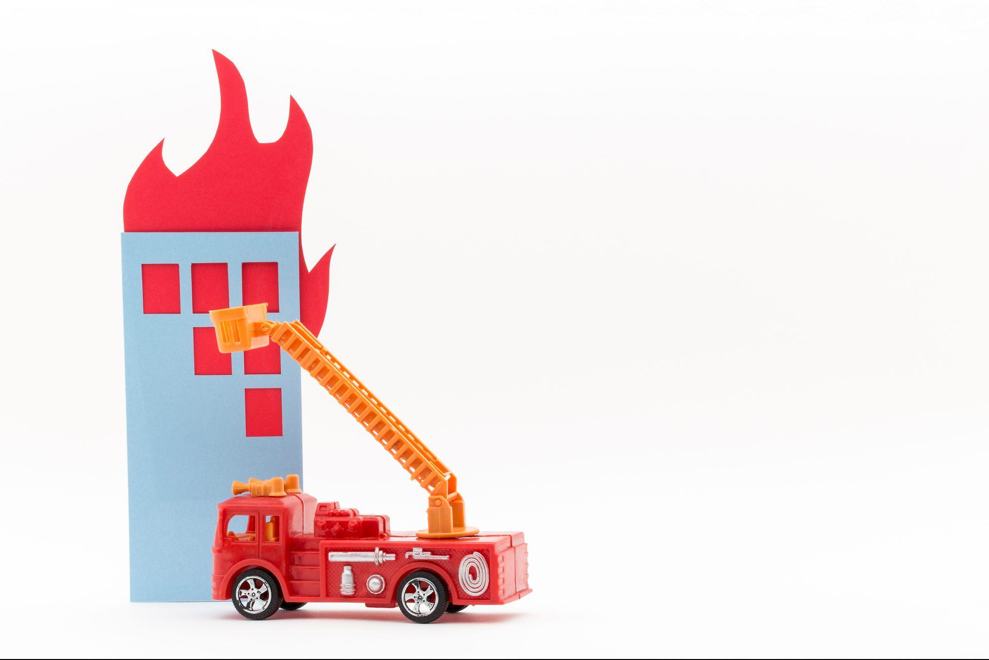 消防車の模型