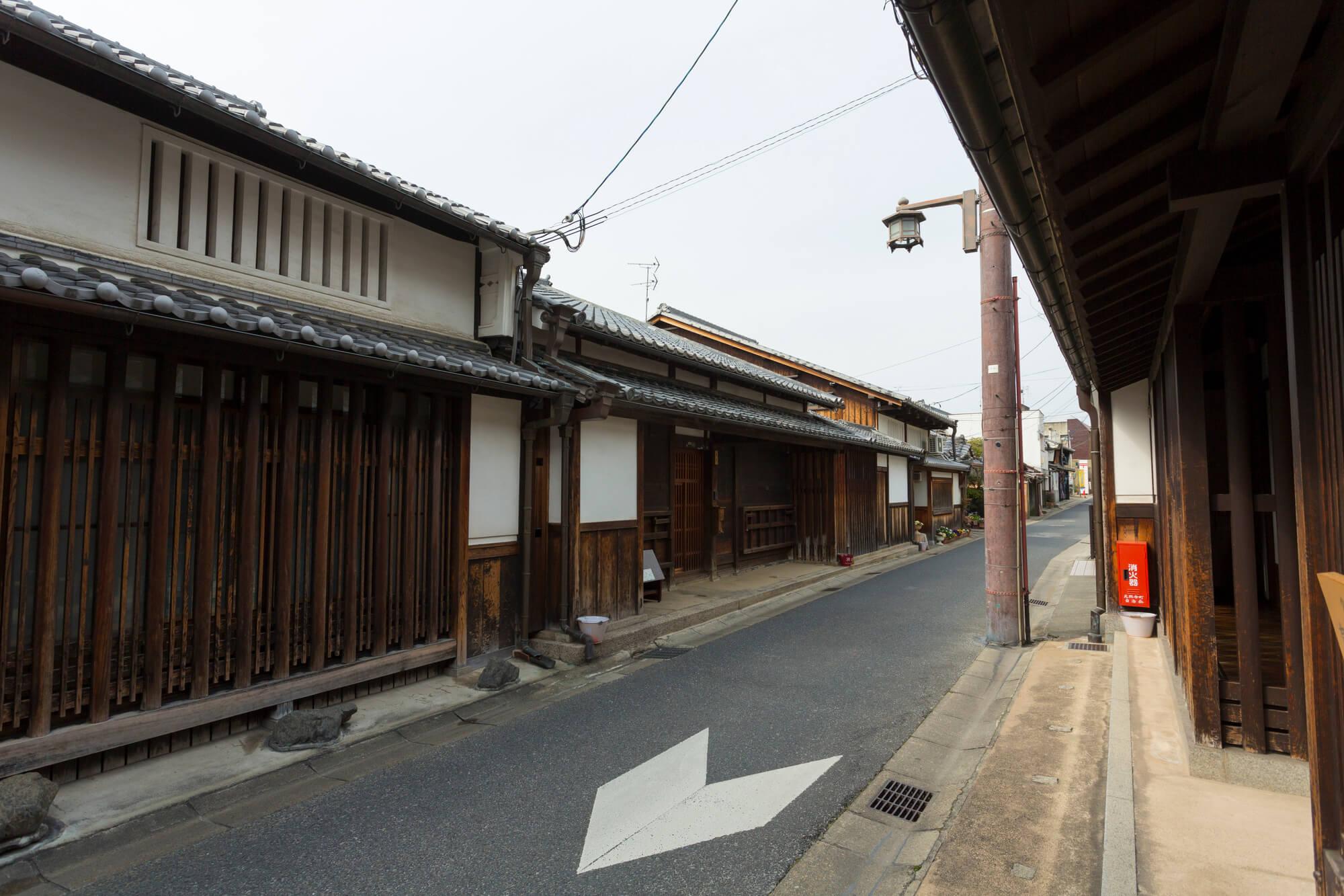 奈良の古い街並み
