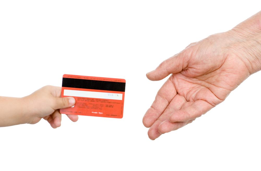 赤いキャッシュカード