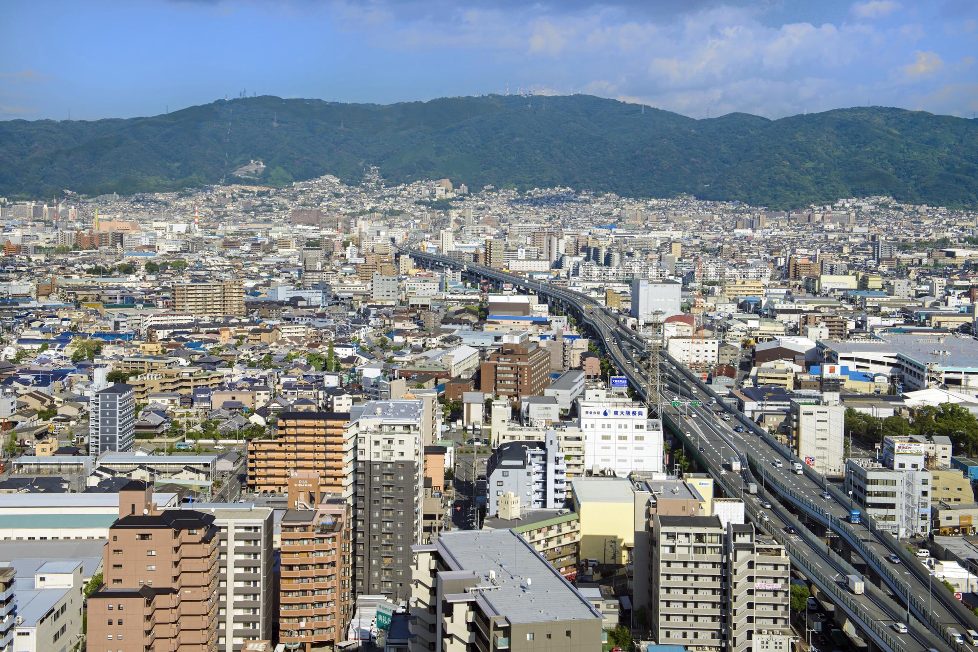 東大阪市の町並み