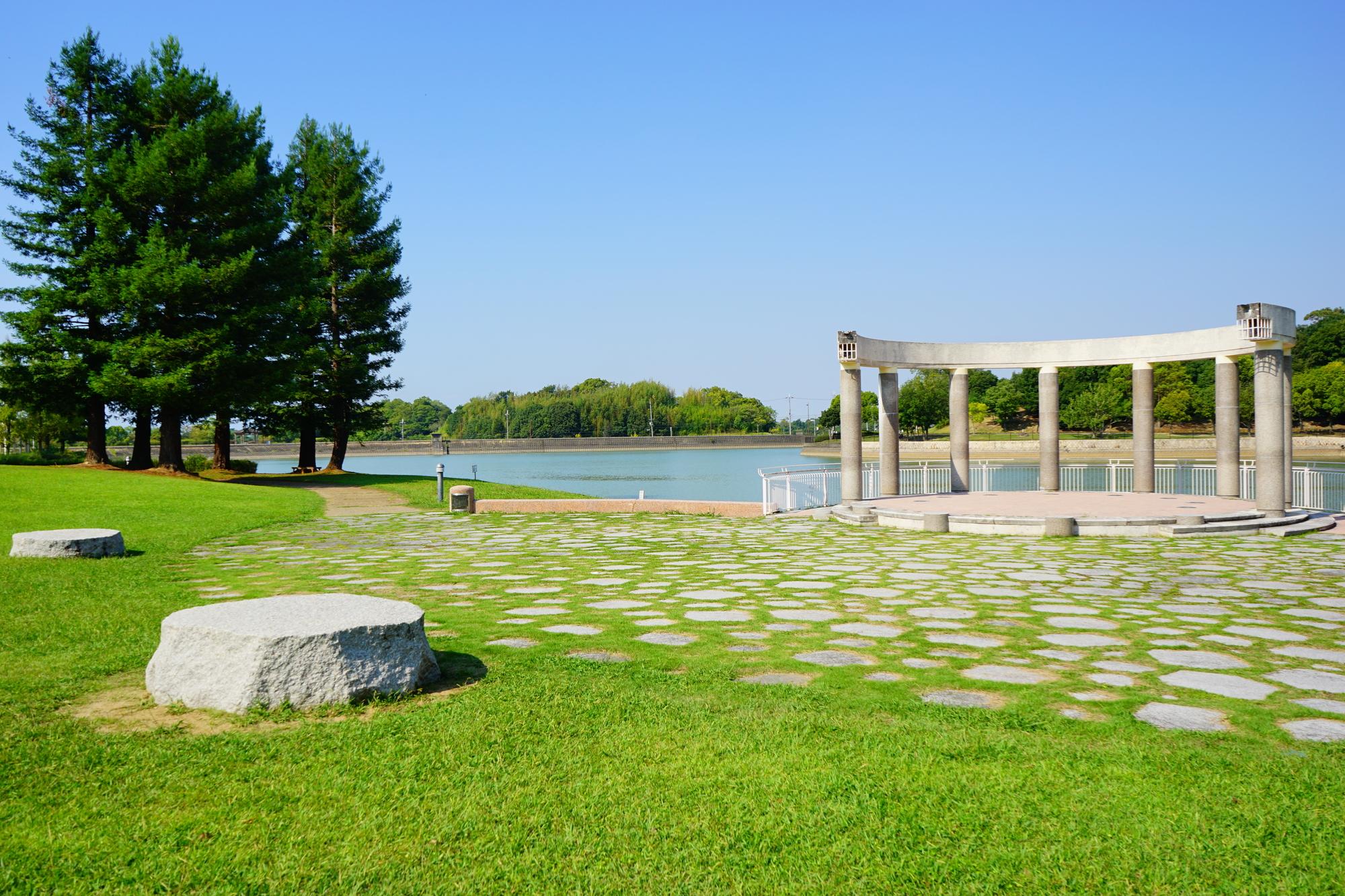 緑の広がる公園