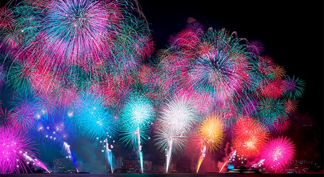 琵琶湖花火大会の様子