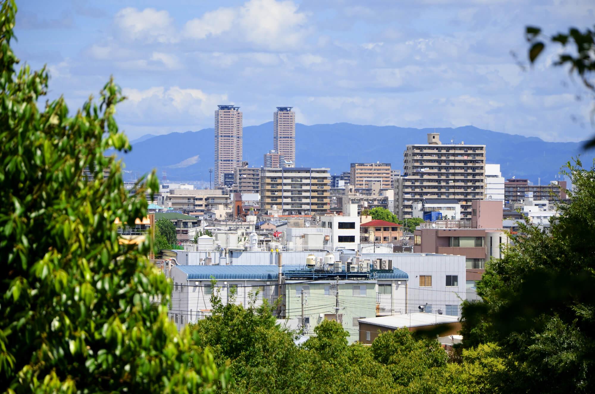 自然豊かな街並み