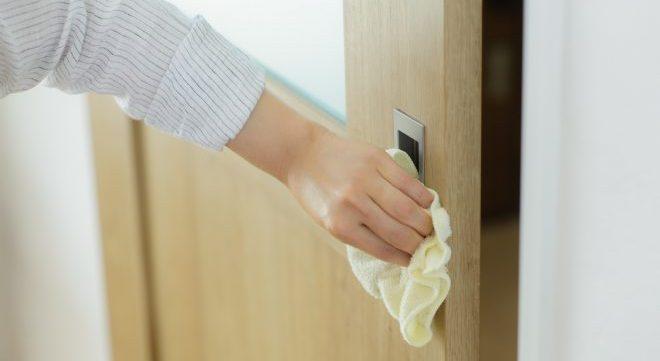 ドア 除菌